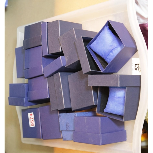53 - Fourteen watch gift boxes. P&P Group 1 (£14+VAT for the first lot and £1+VAT for subsequent lots)...