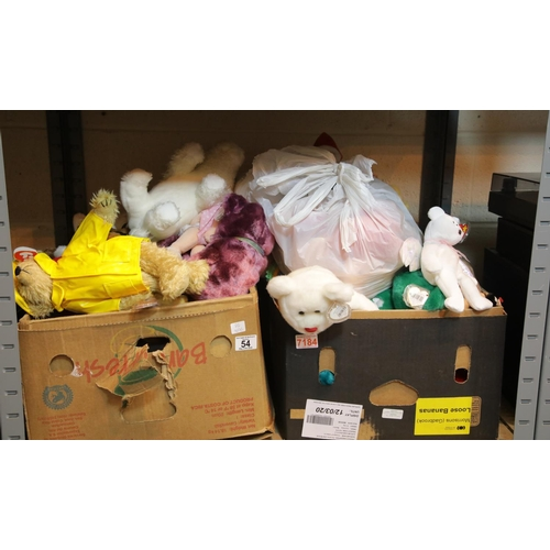 54 - Two boxes of TY Beanie plush toys. P&P Group 3 (£25+VAT for the first lot and £5+VAT for subsequent ...