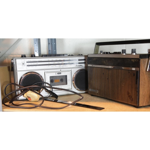 33 - Radio cassette player and a Grundig Music Boy radio. P&P Group 2 (£18+VAT for the first lot and £2+V...