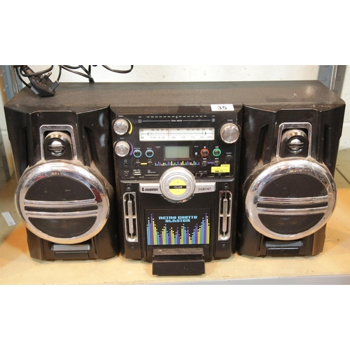 35 - Steepletone SGB747 retro ghetto blaster. This lot is not available for in-house P&P, please contact ...
