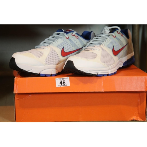 46 - Boxed as new Nike Zoom Structure+ size 13 gents trainers. P&P Group 1 (£14+VAT for the first lot and...