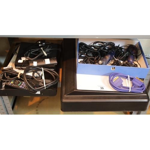 39 - Panasonic DVD EZ27EB with leads, remote control, Formula A3 light box on light up screen, electric r...