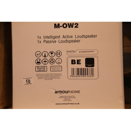 10 - Armour Home Mow-2 new in box pair of stereo wall speakers. P&P Group 3 (£25+VAT for the first lot an...