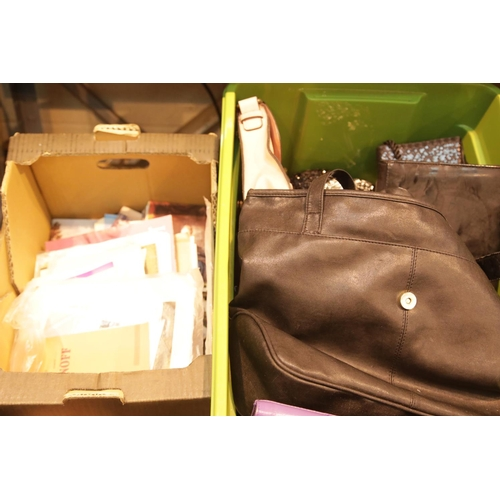 17 - Box of good quality ladies handbags in good condition. This lot is not available for in-house P&P.