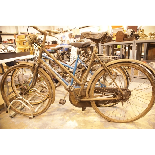 2 - 50/60s ladies Raleigh bicycle with Brooks saddle and dynamo. This lot is not available for in-house ...