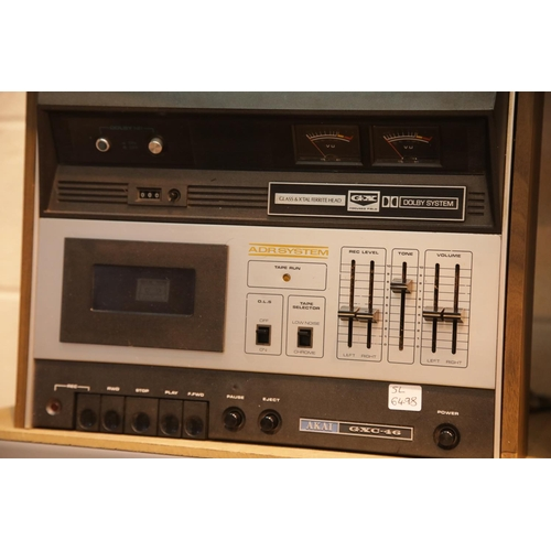 28 - Akai GXC 46 tape deck. This lot is not available for in-house P&P. Condition Report: All electrical ...
