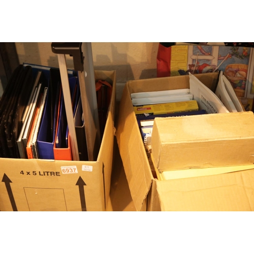 6 - Two boxes of mixed stationery. This lot is not available for in-house P&P.