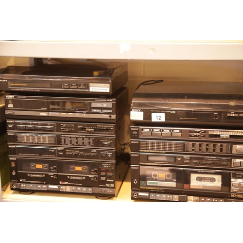 12 - Two Sony HiFi systems XO-D5 and XO-950W. This lot is not available for in-house P&P.