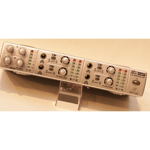 51 - Behringer mini 4 channel headphone amp (no lead). P&P Group 1 (£14+VAT for the first lot and £1+VAT ...