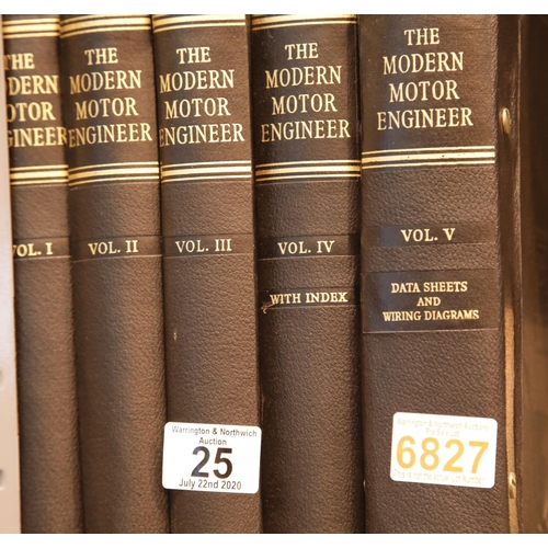 25 - The Modern Motor Engineer volumes 1 to 5. P&P Group 3 (£25+VAT for the first lot and £5+VAT for subs...