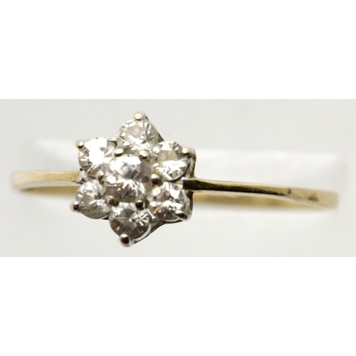 1038 - 9ct gold dress ring, size V, 1.0g. P&P Group 1 (£14+VAT for the first lot and £1+VAT for subsequent ...
