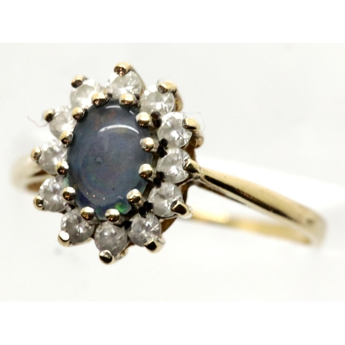 1041 - 9ct gold dress ring, size N, 1.9g. P&P Group 1 (£14+VAT for the first lot and £1+VAT for subsequent ...