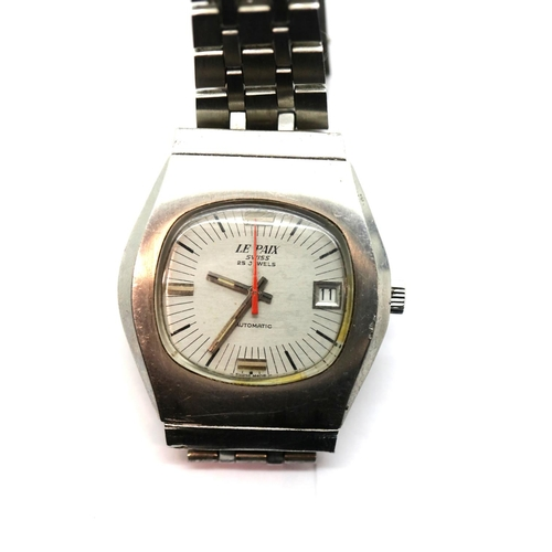1054 - Vintage LE Paix gents 25 jewel automatic wristwatch. P&P Group 1 (£14+VAT for the first lot and £1+V...