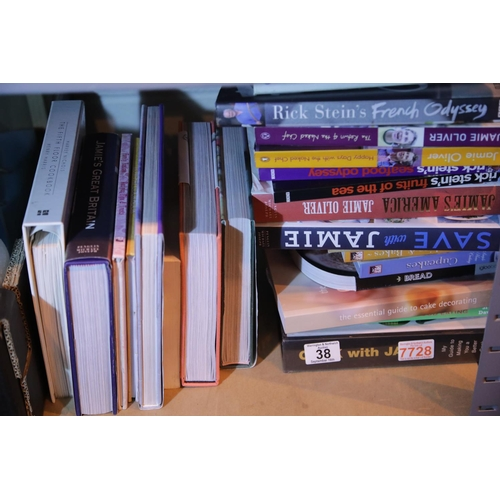 38 - Collection of modern cookery books including Jamie Oliver and Rick Stein examples. Not available for...
