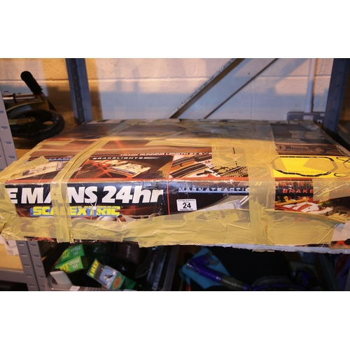 24 - Boxed Scalextric Le Mans 24 racing set. Not available for in-house P&P...