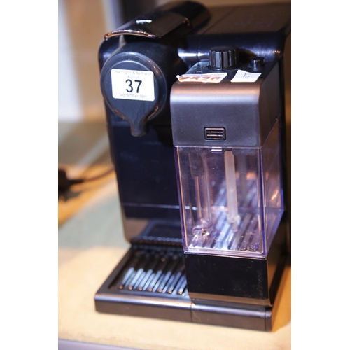 37 - Nespresso by De'Longhi Lattissima Touch, vendor confirms good working order. Not available for in-ho...