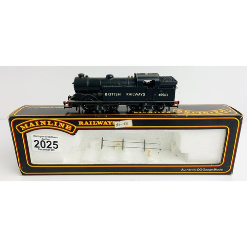 2025 - Mainline 54155 N2 Class 0-6-2T BR Black Livery 69563 - Boxed P&P Group 1 (£14+VAT for the first lot ...