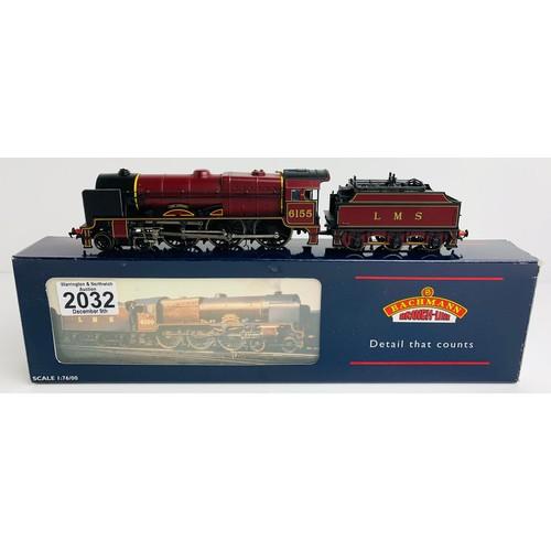 2032 - Bachmann 31-281 P/Boiler Scot 6155 'The Lancer' LMS Crimson 3500 Gal Tender - Boxed P&P Group 1 (£14...