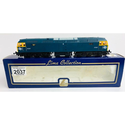 2037 - Lima L205192 Class 47 BR Blue D1957 - Boxed P&P Group 1 (£14+VAT for the first lot and £1+VAT for su...