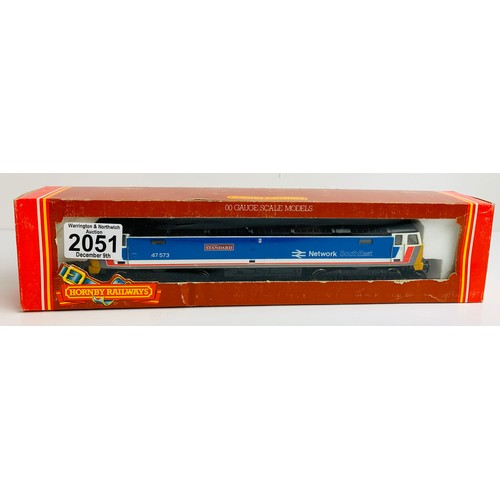 2051 - Hornby R876 Class 47 573 Network Southeast 'London Standard ' Loco Boxed P&P Group 1 (£14+VAT for th...