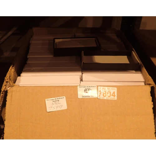 57 - Forty designer watch boxes, new old stock, with tools. Not available for in-house P&P...