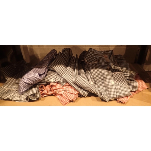 58 - Shelf of girls infants back to school uniforms, skirts and blouses. Not available for in-house P&P...