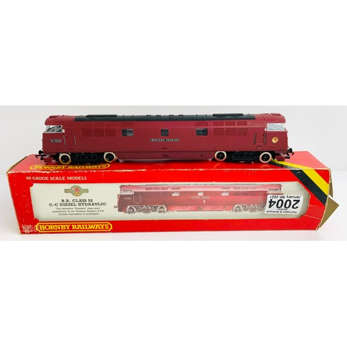 2004 - Hornby  OO Gauge Class 52 Locomotive Boxed P&P Group 1 (£14+VAT for the first lot and £1+VAT for sub...