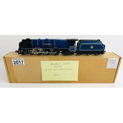 2017 - Hornby OO Gauge City of Chester Locomotive Boxed P&P Group 1 (£14+VAT for the first lot and £1+VAT f...