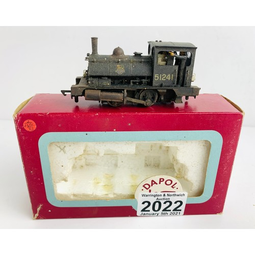 2022 - Dapol OO Gauge BR Pug Weathered Locomotive Boxed P&P Group 1 (£14+VAT for the first lot and £1+VAT f...