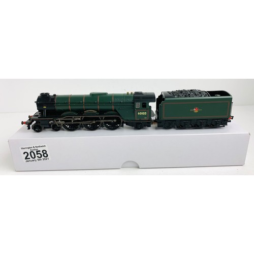 2058 - Hornby OO Gauge Flying Scotsman Locomotive Boxed (Plain white Box) P&P Group 1 (£14+VAT for the firs...