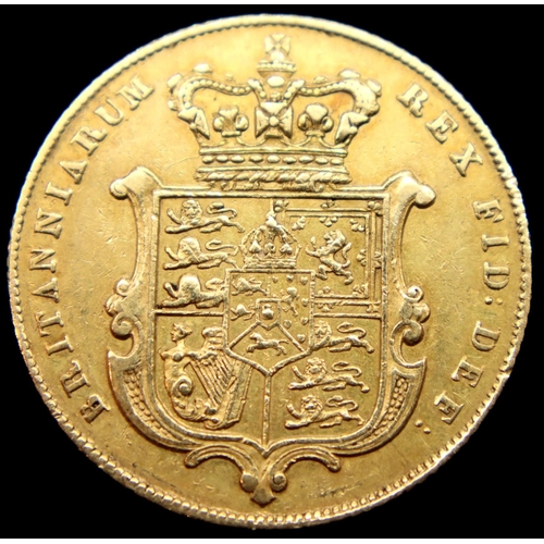 3197 - George IV 1825 full sovereign, bare head, 8.0g. P&P Group 1 (£14+VAT for the first lot and £1+VAT fo...