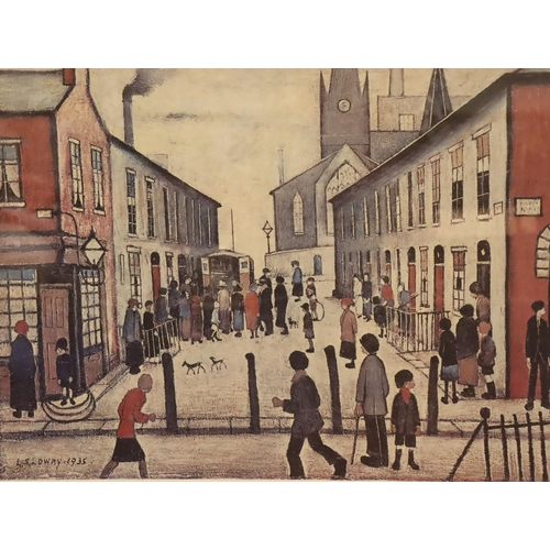 542 - LAWRENCE STEPHEN LOWRY RA (1887-1976) limited edition print Fever Van, signed lower-right, unnumbere...