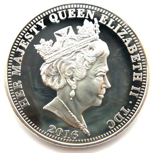 3001 - Tristan da Cuhna 2016 silver proof £5, limited edition 179/699, for Elizabeth II 90th Birthday, enca...
