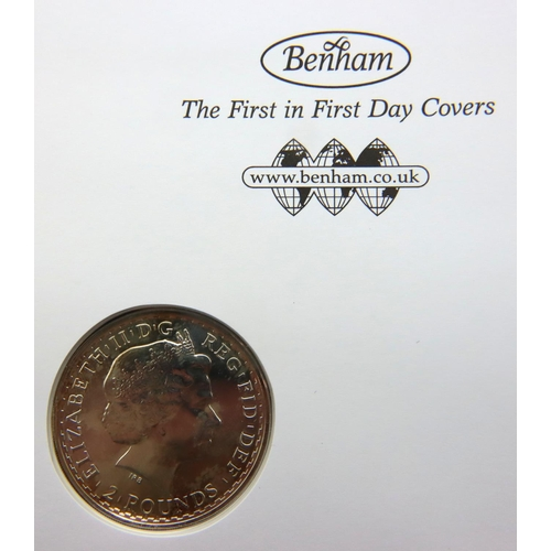 3002 - Jubilee Mint 2014 Britannia Silver coin cover, sealed and in slip case with COA. P&P Group 1 (£14+VA...