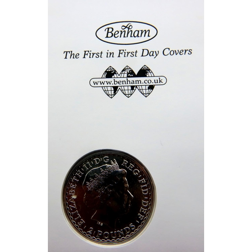3003 - Jubilee Mint 2015 Britannia Silver coin cover, sealed and in slip case with COA. P&P Group 1 (£14+VA...