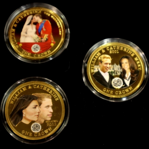 3005 - Tristan da Cuhna for The Bradford Exchange, six coin set The Golden Moments of Prince William and Ca...