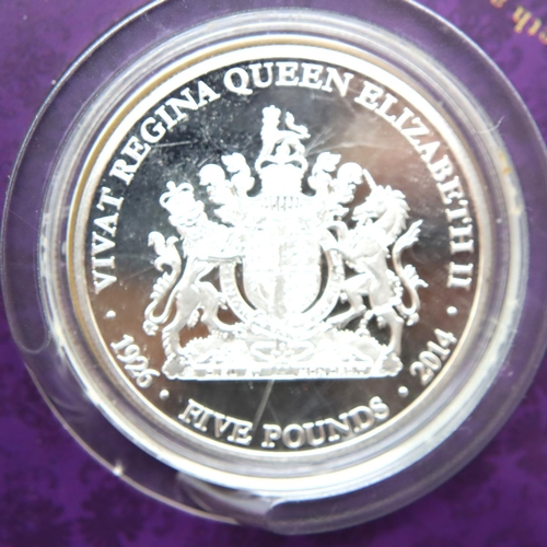 3010 - The Royal Mint 2016 £20 fine silver coin, a 2007 Diamond Wedding Crown in slip case, two collectors ...