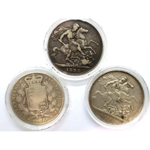 3013 - Westminster Collection three coin set The Queen Victoria Silver Crown Collection, including young he...