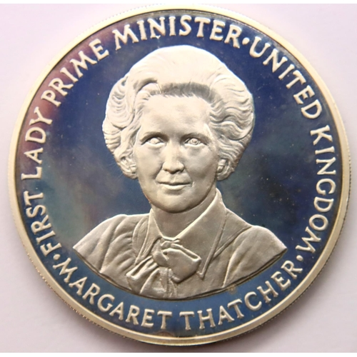 3015 - Pobjoy Mint 1979 silver proof Margaret Thatcher commemorative, encapsulated (capsule discoloured) an...