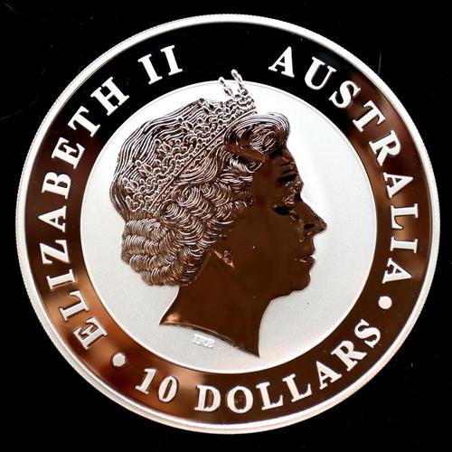 3018 - 2012 ten-ounce 999 silver Australian Koala of Elizabeth II, encapsulated. P&P Group 1 (£14+VAT for t...