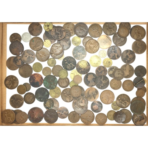 3040 - Queen Victoria and George V, mixed mostly copper coins. P&P Group 1 (£14+VAT for the first lot and £...
