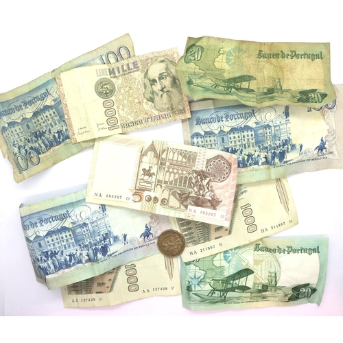 3047 - Mixed 20th century Portuguese banknotes. P&P Group 1 (£14+VAT for the first lot and £1+VAT for subse...