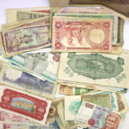 3050 - Approximately 90 mixed world banknotes including a 1923 German 100,000 mark. P&P Group 1 (£14+VAT fo...