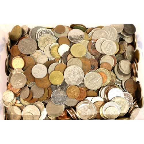 3053 - Large collection of 20th century world coins, approximate weight 13kg. Not available for in-house P&...