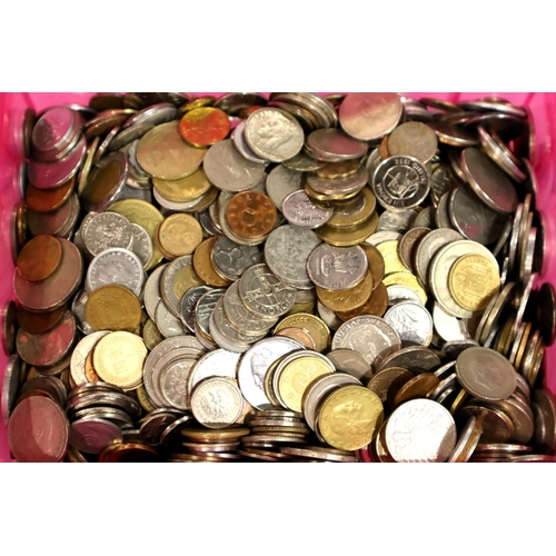 3057 - Large collection of 20th century world coins, approximate weight 13kg. Not available for in-house P&...