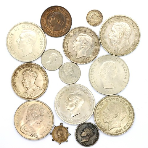3029A - Quantity of collectable coins including a boxed Festival of Britain George V crown, Canadian dollar ...