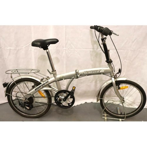 1009 - Ventura X Stowaway folding shopper bike five gears, 12 inch frame. Not available for in-house P&P, c...
