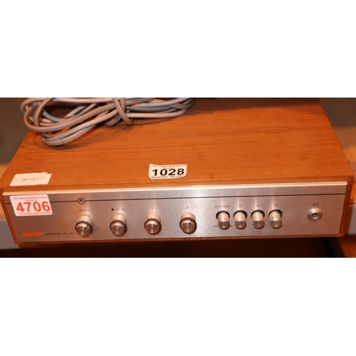 1028 - Bush Arena hi fi amplifier unit. Not available for in-house P&P, contact Paul O'Hea at Mailboxes on ...