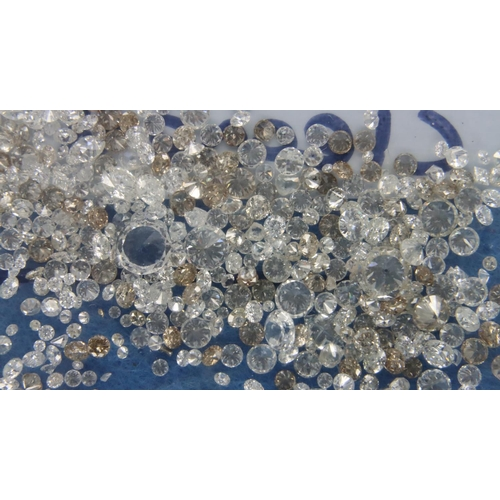 30 - 17.16ct (total) of loose white diamonds extracted from 18ct jewellery. Largest stone approx 0.15ct P...