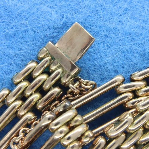 36 - Edwardian 9ct rose gold gate bracelet, L: 18 cm, 19.6g, one link has been filed and acid tested. P&P...